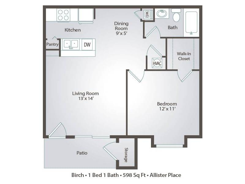 Birch - 1 Bedroom / 1 Bathroom Image