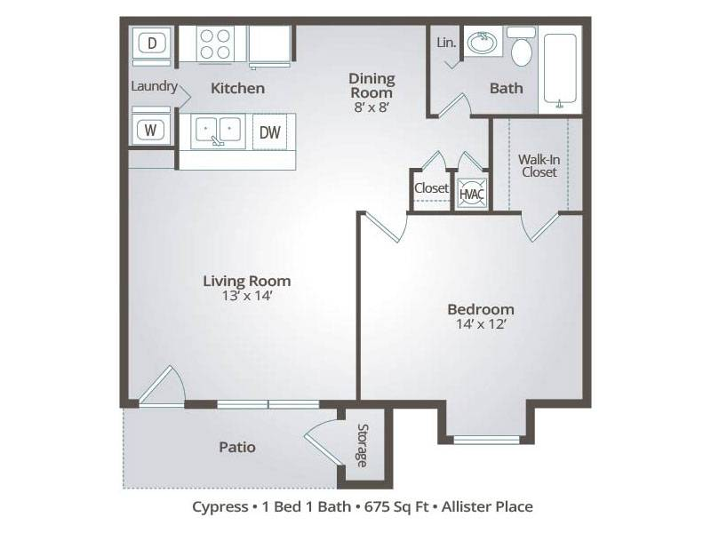 Cypress - 1 Bedroom / 1 Bathroom Image
