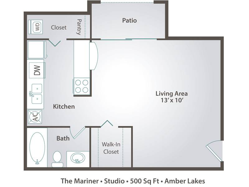 Bedroom Apartment Floor Plans Pricing Amber Lakes Winter