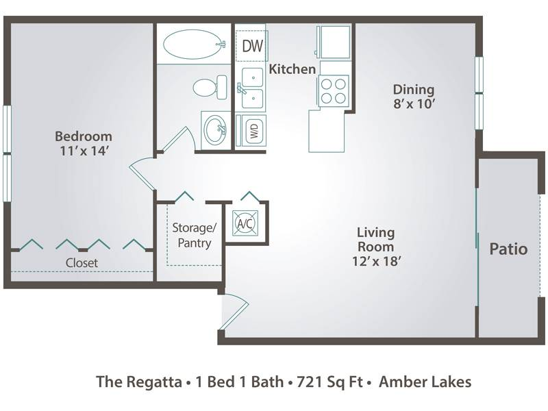 The Regatta - 1 Bedroom / 1 Bathroom Image