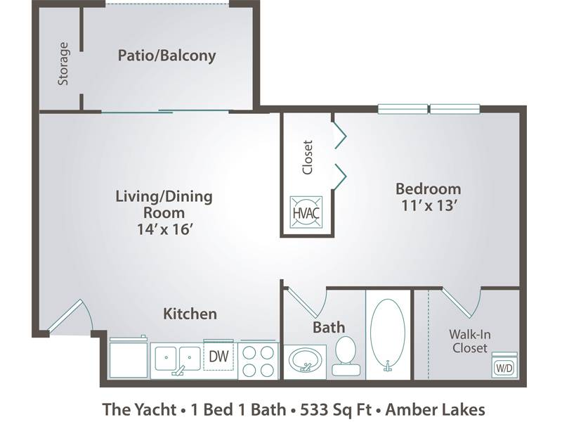 The Yacht - 1 Bedroom / 1 Bathroom Image