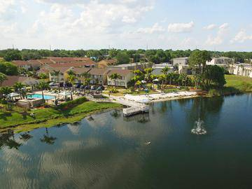 Aerial View of Community - Amber Lakes - Winter Park, FL