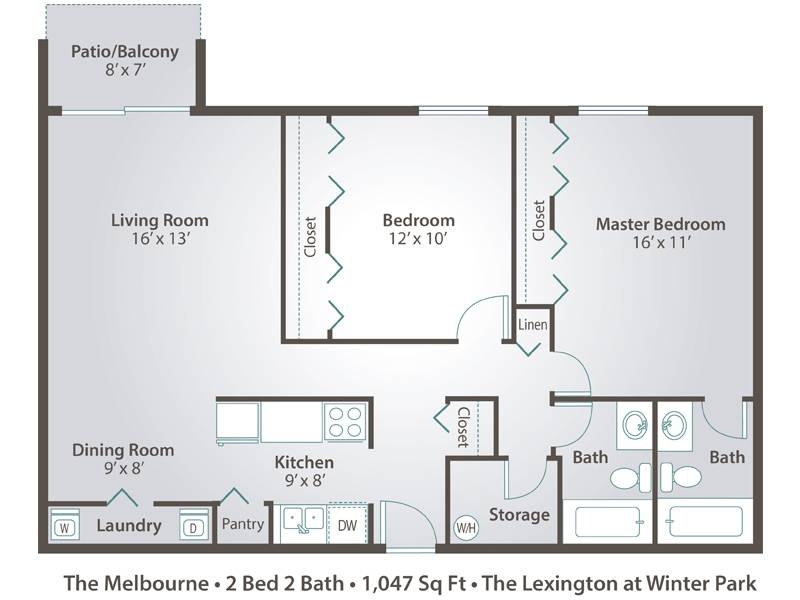 The Melbourne - 2 Bedroom / 2 Bathroom Image