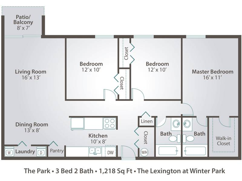 The Park - 3 Bedroom / 2 Bathroom Image