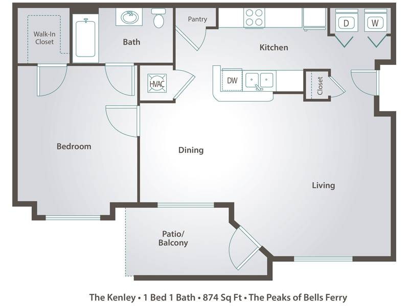 The Kenley - 1 Bedroom / 1 Bathroom Image