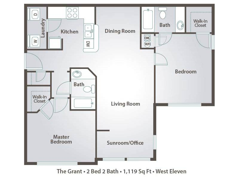 The Grant - 2 Bedroom / 2 Bathroom Image