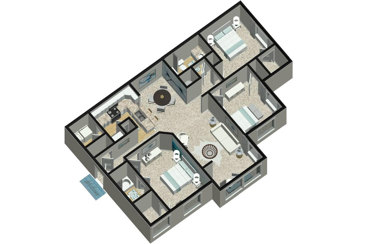 The Inman - 3 Bedroom / 2 Bathroom Image