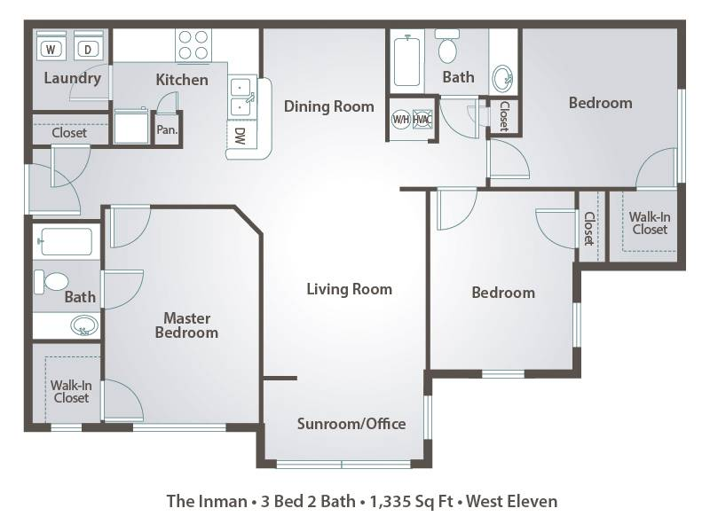 1 Bedroom Apartment Floor Plans Pricing West Eleven