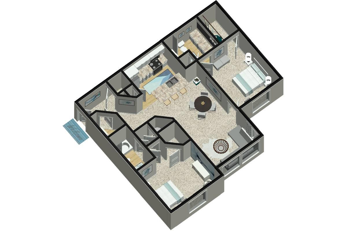 The Rhodes - 2 Bedroom / 2 Bathroom Image