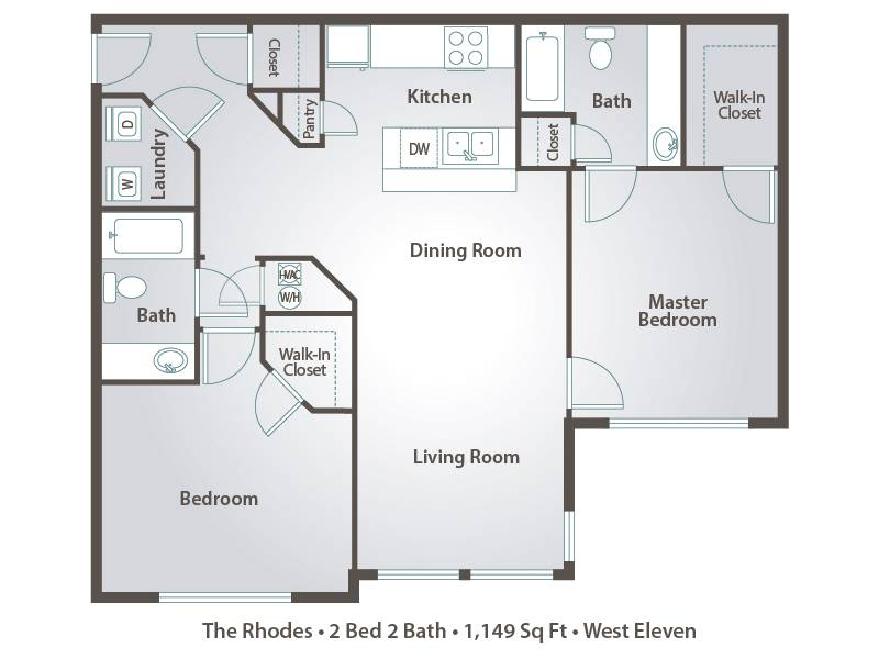 The Rhodes - 2 Bedroom / 2 Bathroom Image