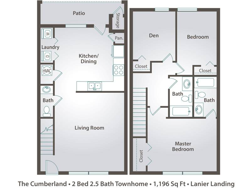 The Cumberland - 2 Bedroom / 2.5 Bathroom Image
