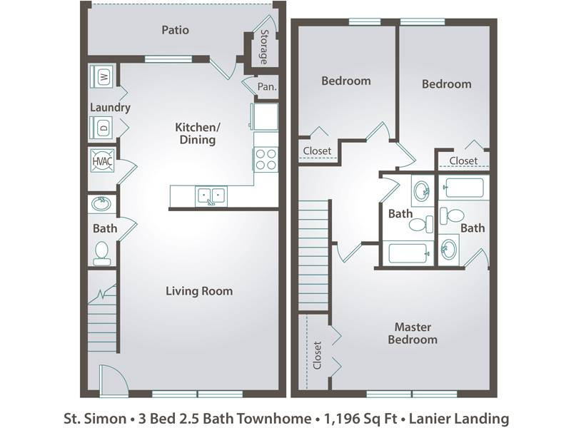 The St. Simon - 3 Bedroom / 2.5 Bathroom Image