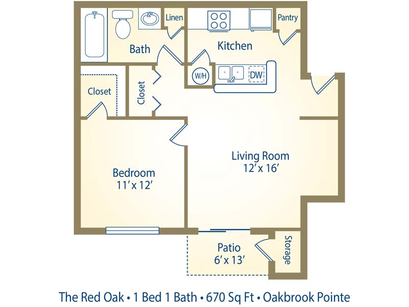 Apartment Floor Plans Pricing Oakbrook Pointe Norcross Ga