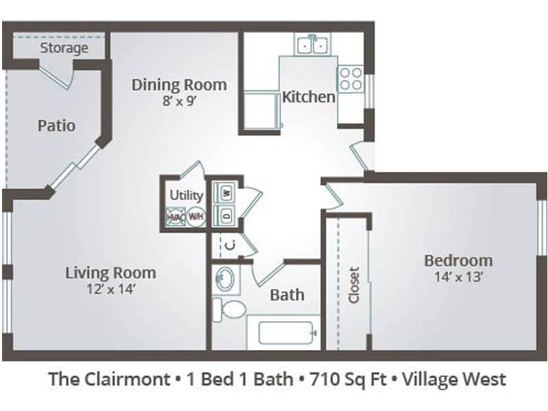 The Clairmont - 1 Bedroom / 1 Bathroom Image