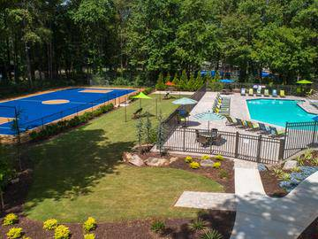 Aerial View of Amenities - Village West at Peachtree Corners - Norcross, GA
