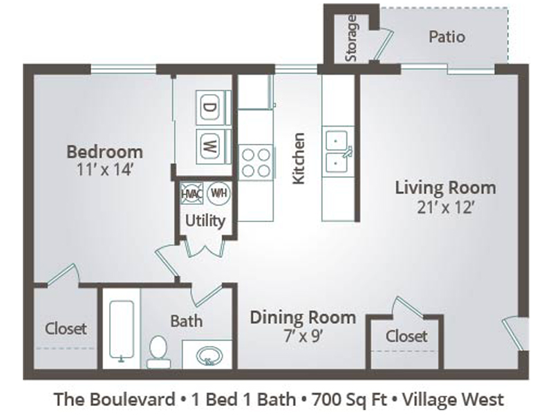 The Boulevard - 1 Bedroom / 1 Bathroom Image