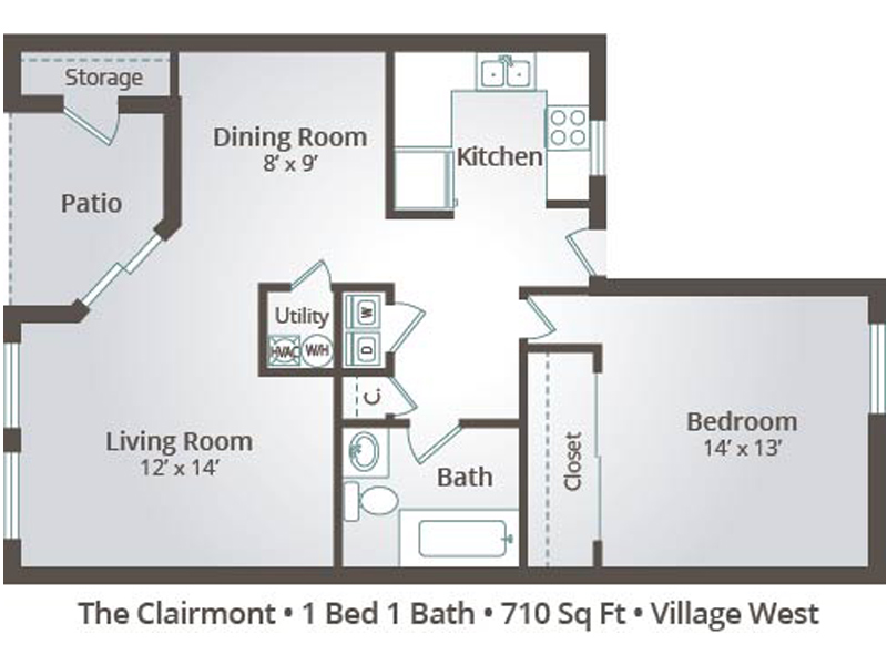 The Clairmont - 1 Bedroom / 1 Bathroom Image