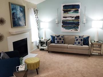 Living Room - Village West at Peachtree Corners - Norcross, GA