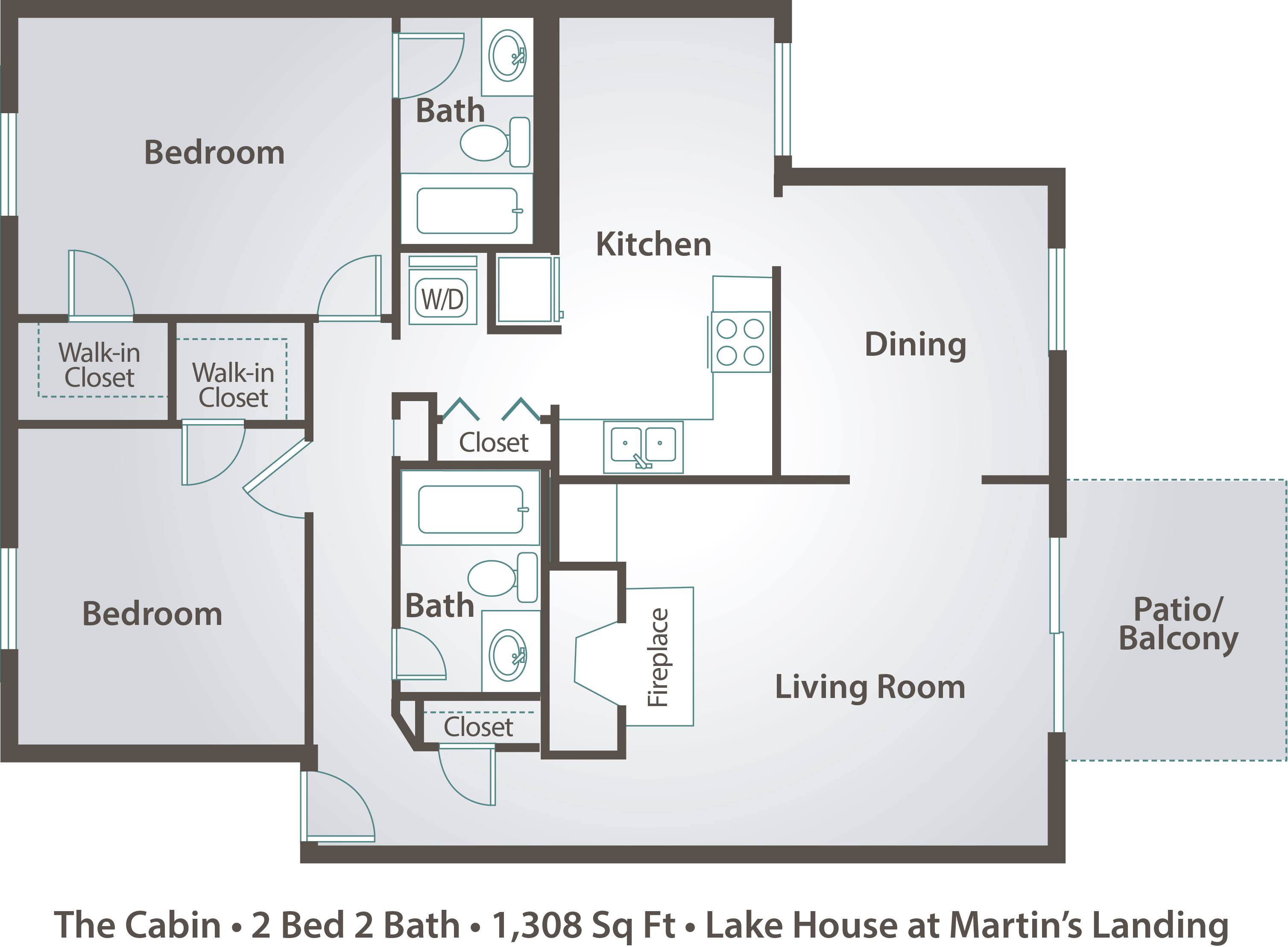 2 bedroom apartment floor plans pricing the lake house for Lake floor plans