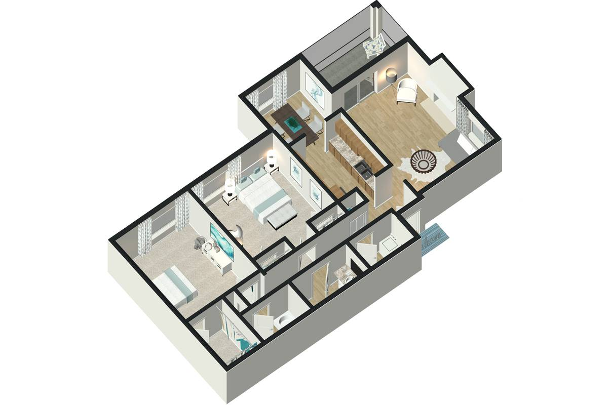 The Iris - 2 Bedroom / 2 Bathroom Image
