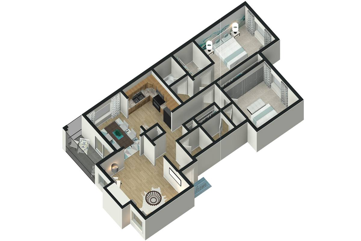 The Laurel - 2 Bedroom / 2 Bathroom Image