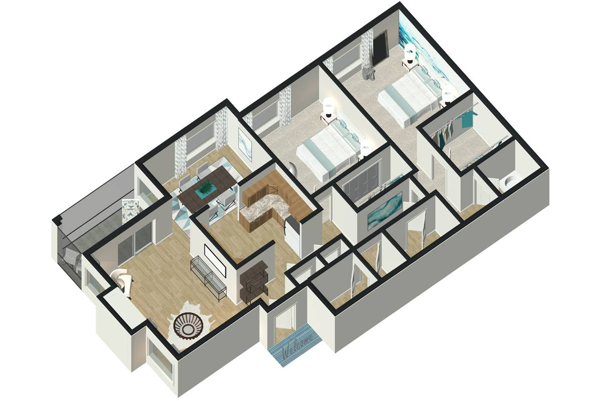 The Lily - 2 Bedroom / 2 Bathroom Image