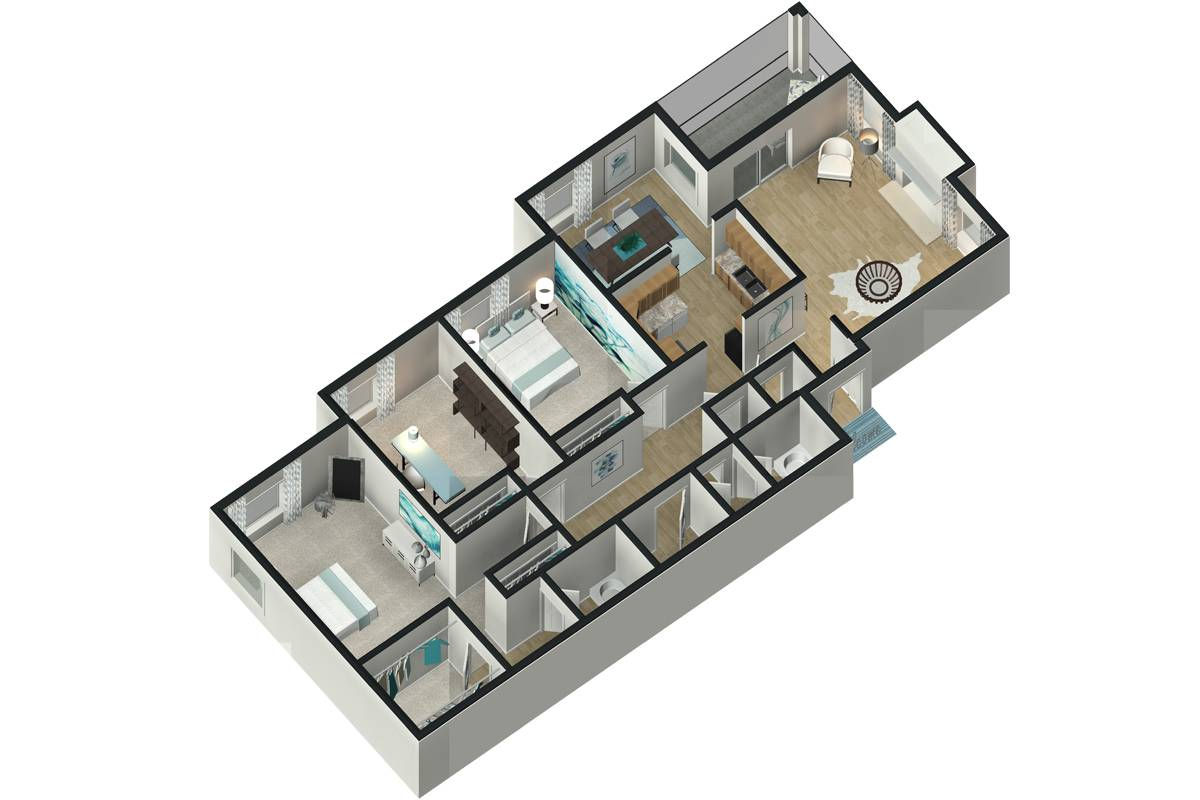 The Magnolia - 3 Bedroom / 2 Bathroom Image