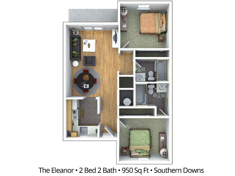 The Eleanor (BTB) - 2 Bedroom / 2 Bathroom Image