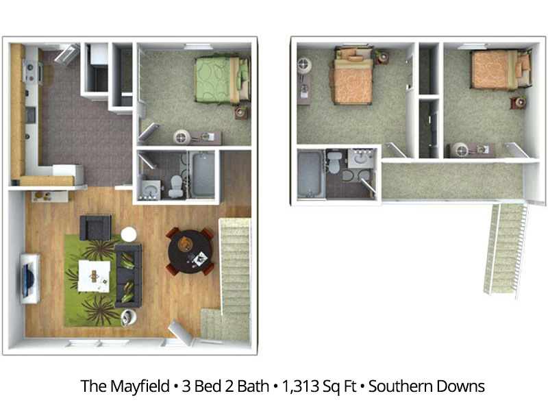 The Mayfield - 3 Bedroom / 2 Bathroom Image