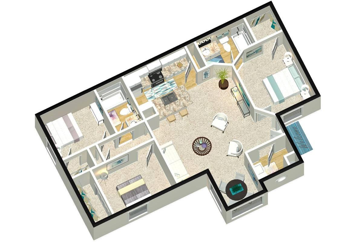 The Addison - 3 Bedroom / 2 Bathroom Image