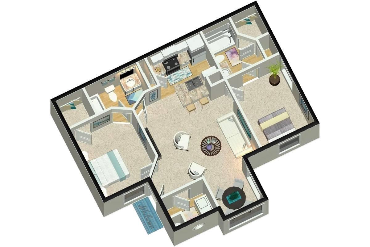 The Luxe - 2 Bedroom / 2 Bathroom Image