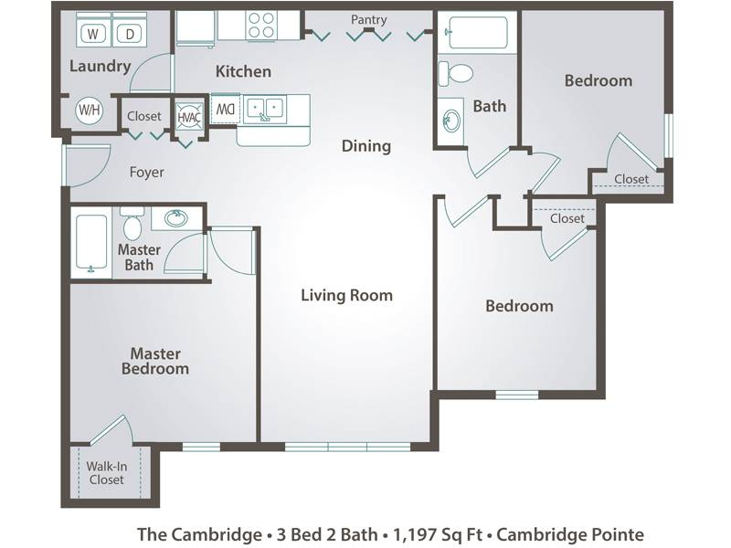 The Cambridge - 3 Bedroom / 2 Bathroom Image
