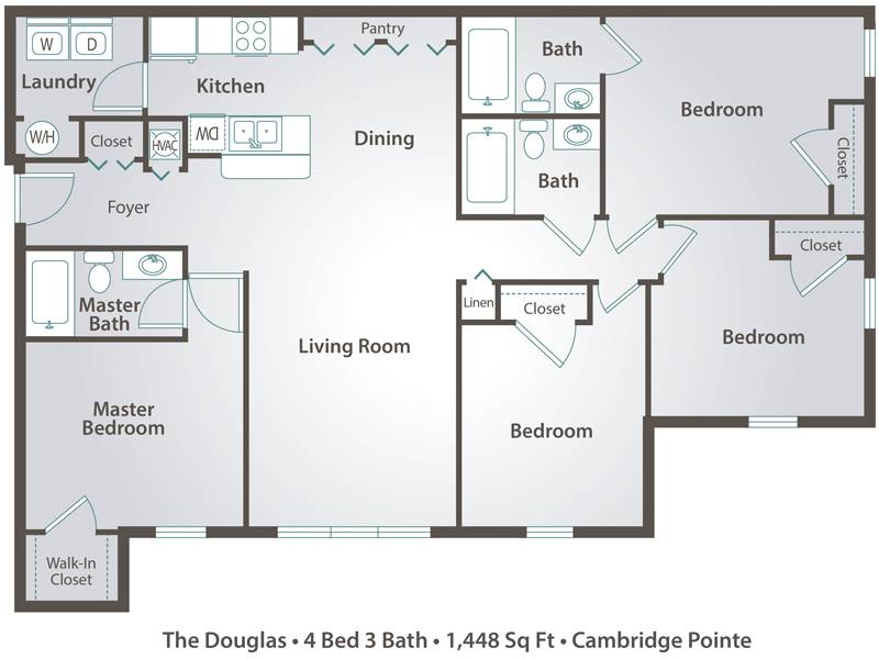 The Douglas - 4 Bedroom / 3 Bathroom Image