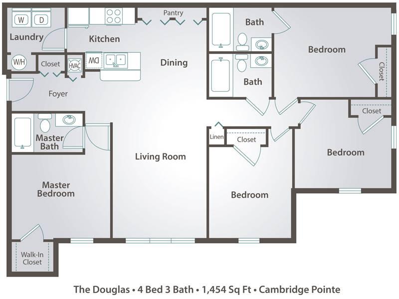 The Douglas - 4 Bedroom / 3 Bathroom Image