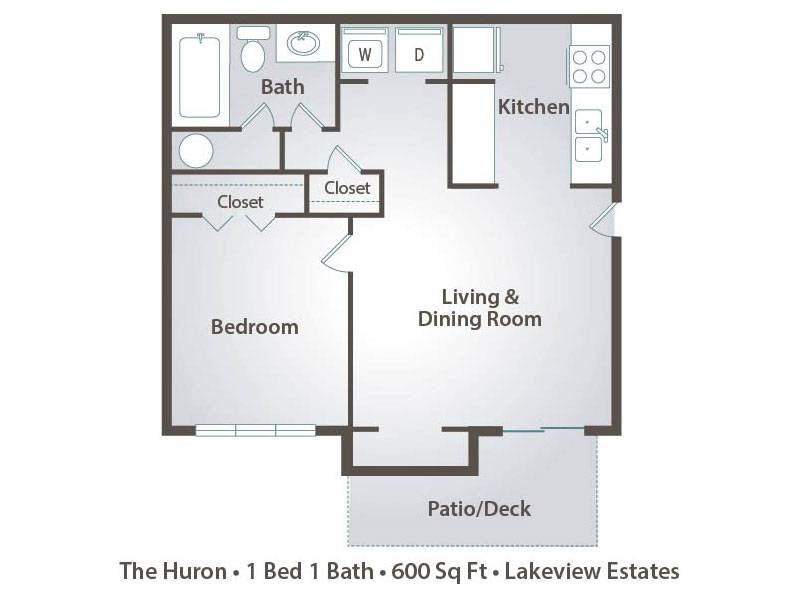 1 Bedroom Apartment Floor Plans Pricing Lakeview