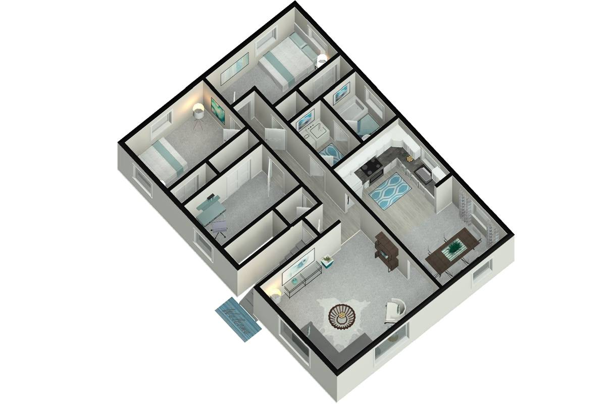 The Pioneer - 3 Bedroom / 1 Bathroom Image