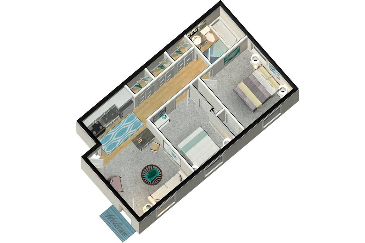 The Collegiate - 2 Bedroom / 1 Bathroom Image