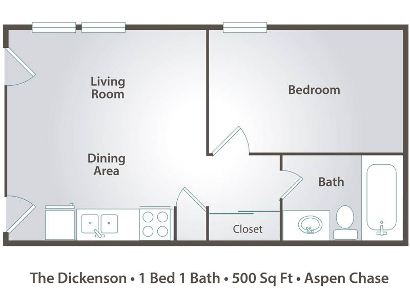 The Dickenson - 1 Bedroom / 1 Bathroom Image