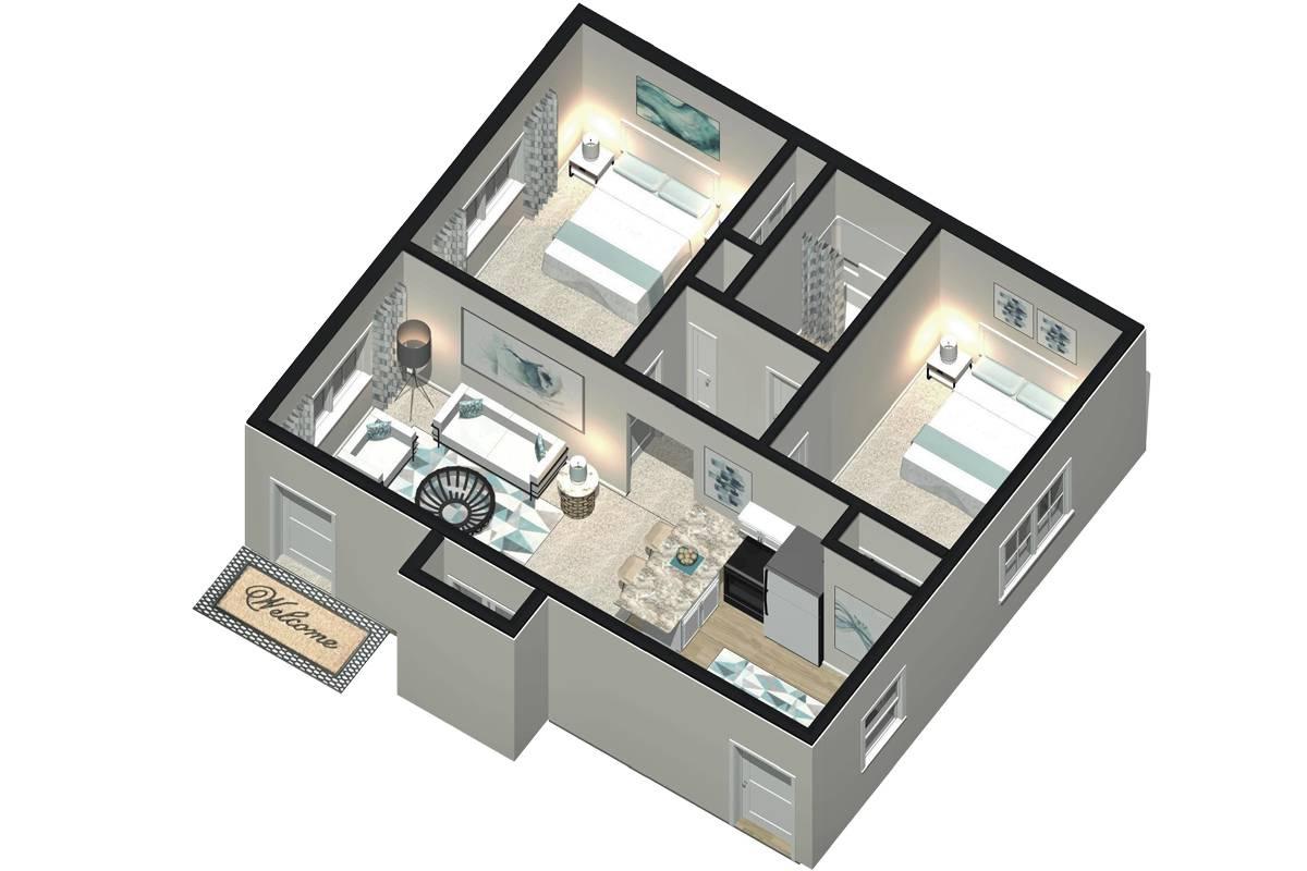 The Adler - 2 Bedroom / 1 Bathroom Image