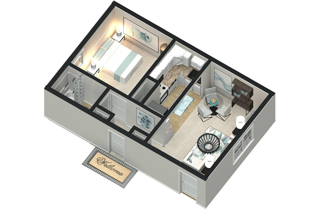 The Willow - 1 Bedroom / 1 Bathroom Image
