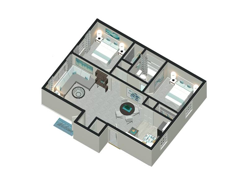 The New England - 2 Bedroom / 1 Bathroom Image