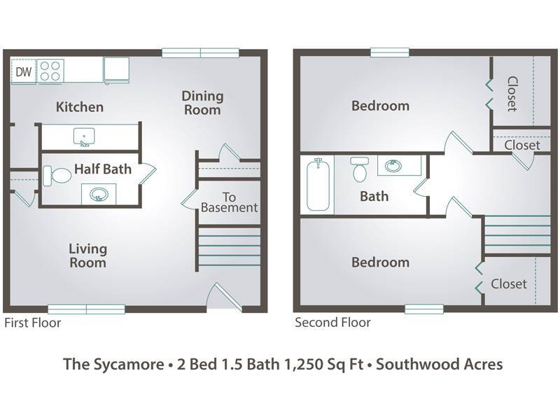 The Sycamore - 2 Bedroom / 1.5 Bathroom Image