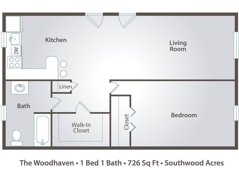 The Woodhaven - 1 Bedroom / 1 Bathroom Image