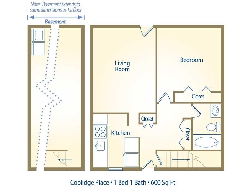 Apartment floor plans pricing coolidge place east Michigan home builders floor plans