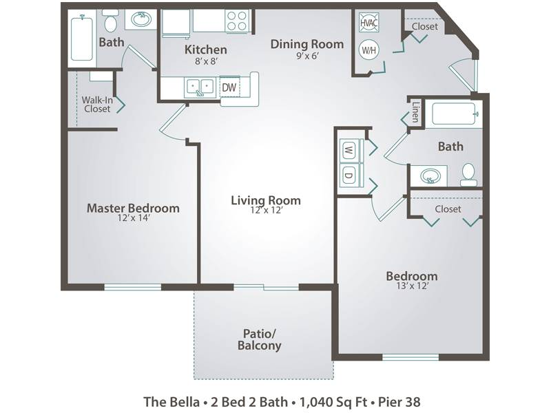 The Bella - 2 Bedroom / 2 Bathroom Image