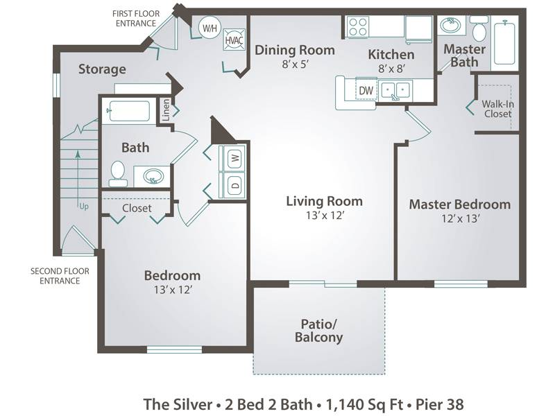 The Silver - 2 Bedroom / 2 Bathroom Image