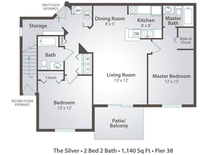 The Silver - 2 Bedroom / 2 Bathroom Image