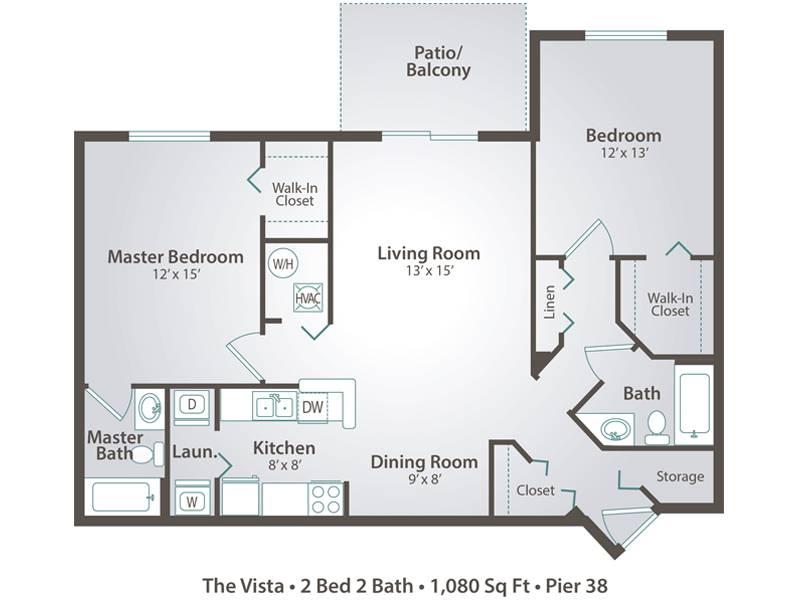 The Vista - 2 Bedroom / 2 Bathroom Image