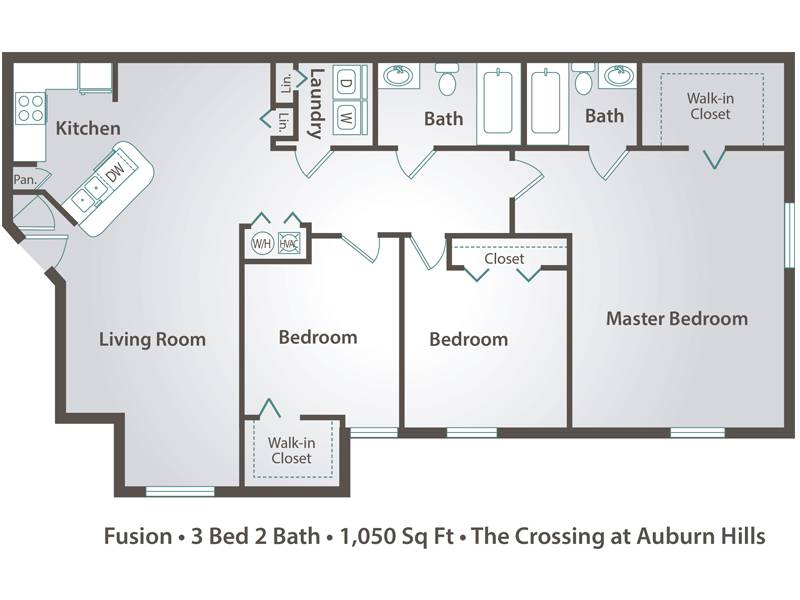 Fusion - 3 Bedroom / 2 Bathroom Image