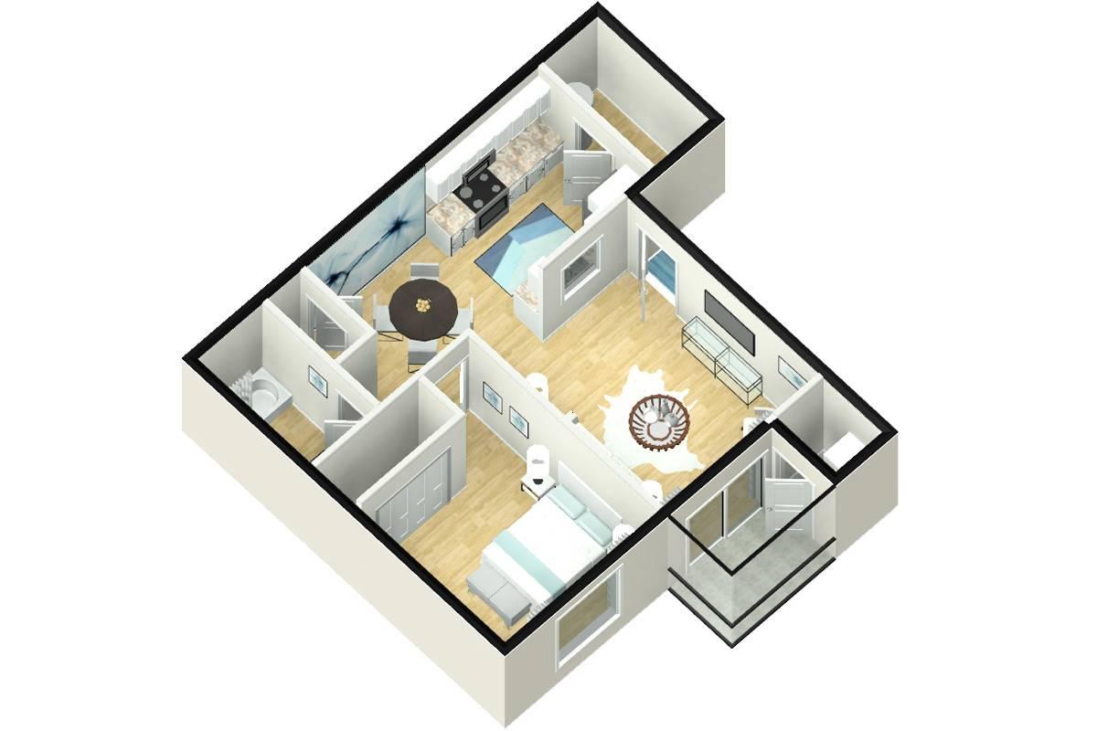 The Club - 1 Bedroom / 1 Bathroom Image